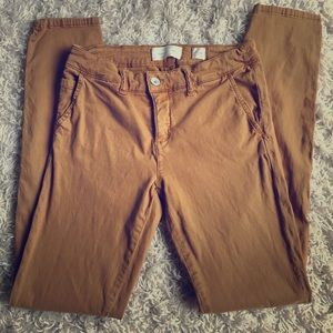 Anthropologie Hei Hei honey colored pants sz 26